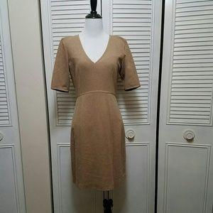 4 Tan Trina Turk Career Dress